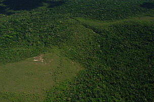 Aerial view of Cerrado savannah area near the Juruena expedition camping ground 1, Juruena National Park, Brazil.June-July 2006.